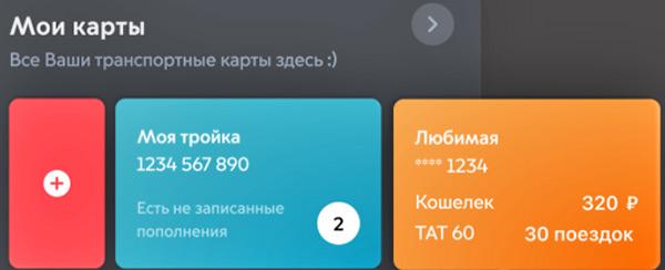 В новом приложении «Метро Москвы» можно добавить несколько персонализированных карт «Тройка»
